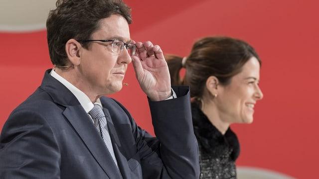 Albert Rösti und Petra Gössi