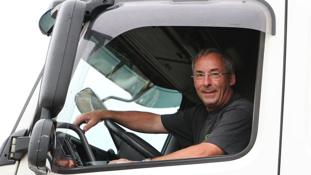 LKW-Chauffeur Ruedi Greuter
