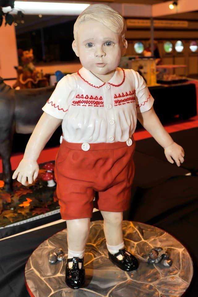 Zuckerfigur in Gestalt von Prinz George.
