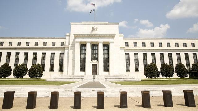 Das gebäude der US-Notenbank.