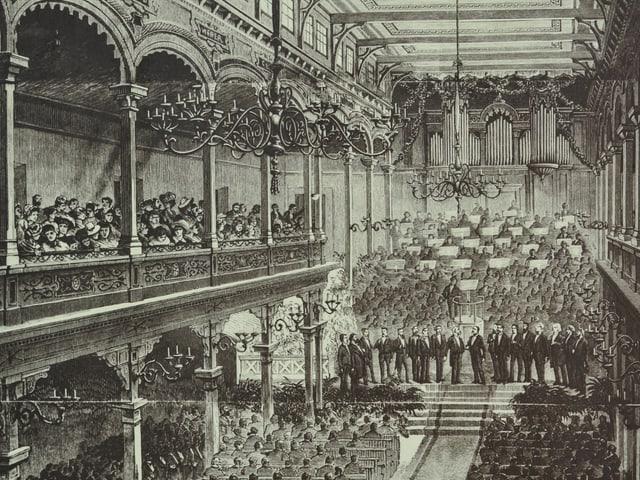 Festakt zur Eröffnung der Landesausstellung 1883