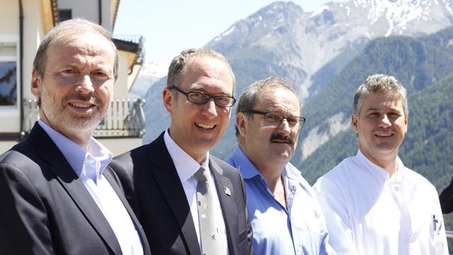 Da sinistra: Phlipp Gunzinger, Chrisitan Rathgeb, Victor Peer e Joachim Koppenberg