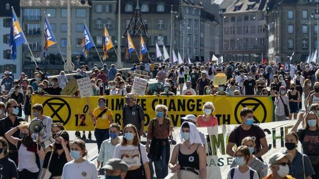 Demonstration in Basel.