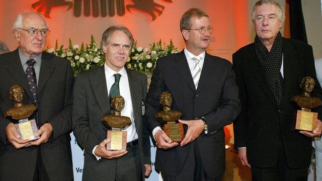 Hans-Ulrich Wehler, Moritz Leuenberger, Wendelin Wiedeking und Hans Neuenfels.