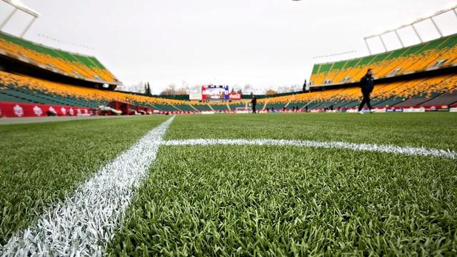 In der Arena von Edmonton findet das WM-Eröffnungsspiel statt.