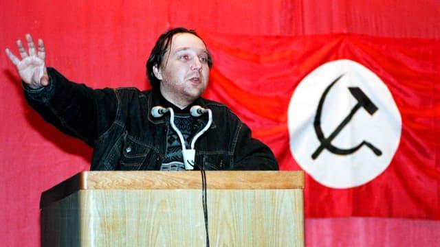 Alexander Dugin als Co-Vorsitzender der Nationalbolschewiken.