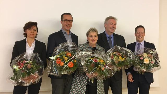Christine Kaufmann, Daniel Hettich, Silvia Schweizer, Hansjörg Wilde und Daniel Albietz.