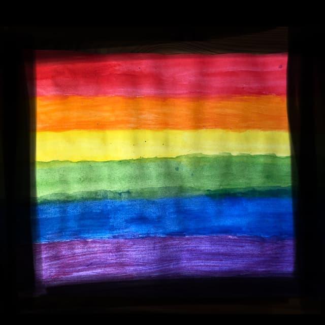 Zeichnung einer Regenbogenfahne