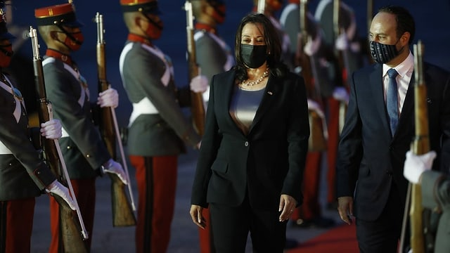 US-Vizepräsidentin Kamala Harris auf Besuch in Guatemala.