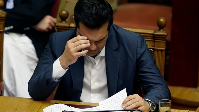 Alexis Tsipras en il parlament.