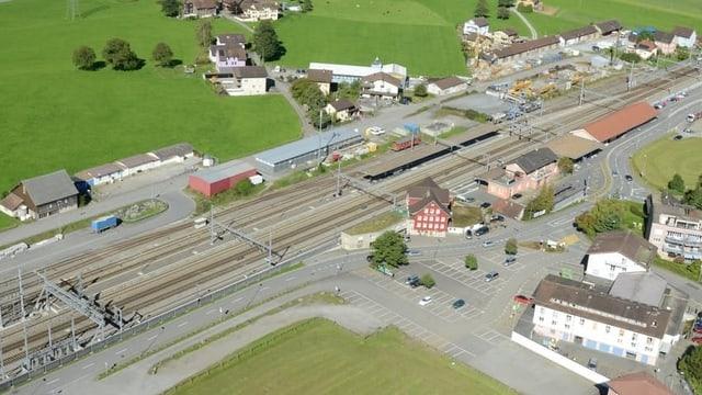 Situationslage des Bahnhofs Altdorf