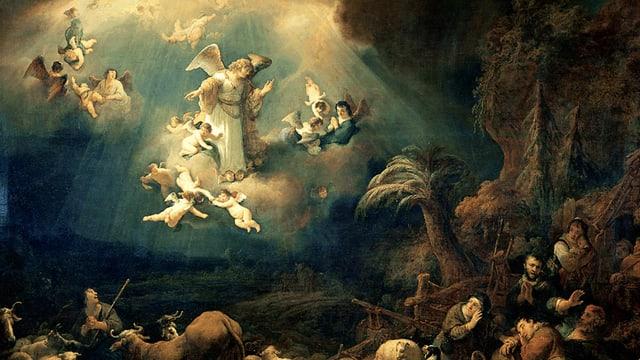 Das Bild zeigt die Verkündigung der Engel.