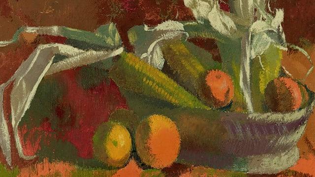 Bildausschnitt von Augusto Giacomettis «Maiskolben und Orange I»