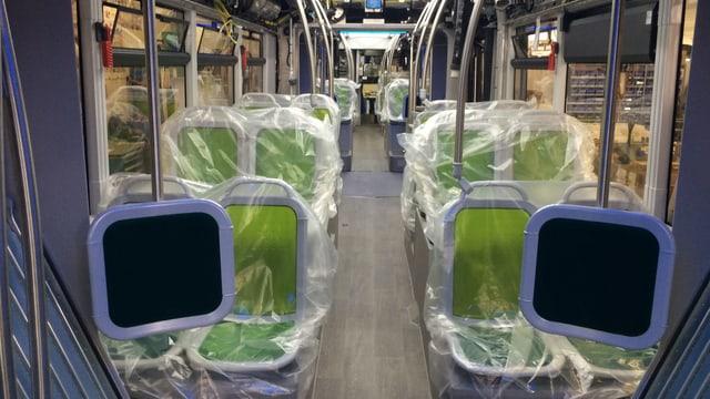 Das Innere eines Buses, der in Bellach produziert wird.