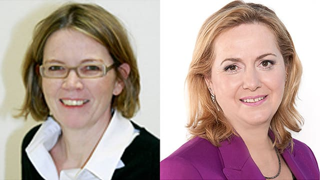 Prof. Antje Welge-Lüssen und Hörakustikerin Doris Ayer