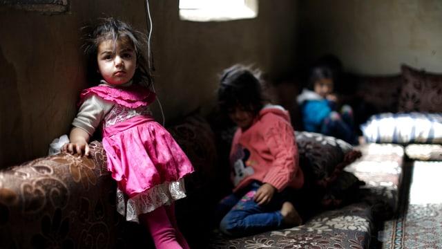 Syrische Flüchtlingskinder im Libanon.