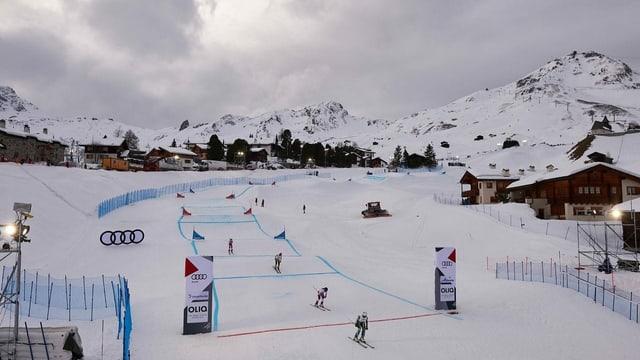 Il percurs da skicross per las cursas 2019.