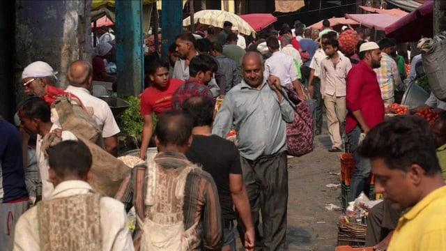 Strassenszene in Indien.