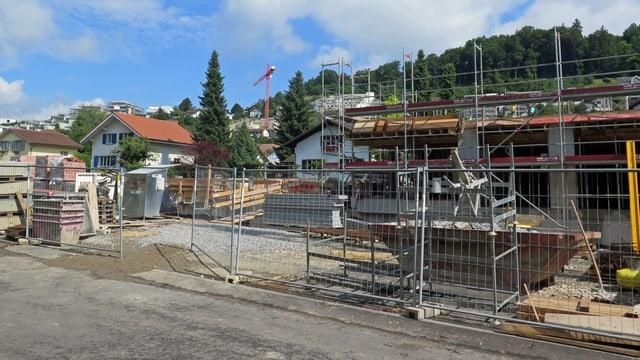 Baustelle in Erlinsbach