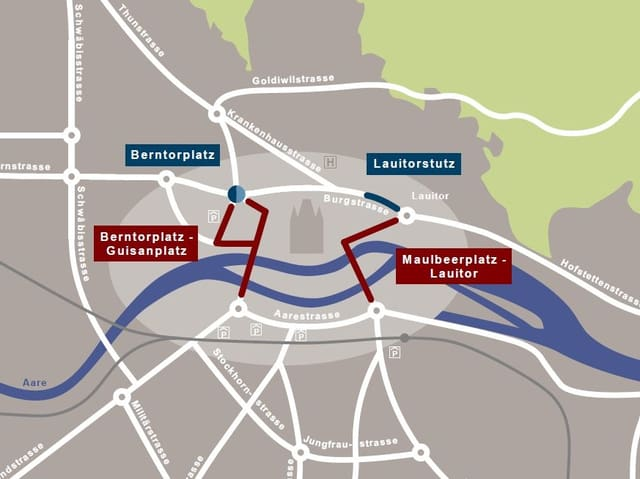 Baustellenplan Thun