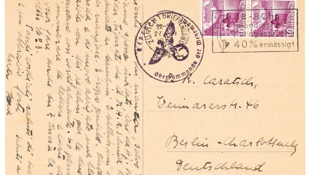 Carta da Reto Caratsch.