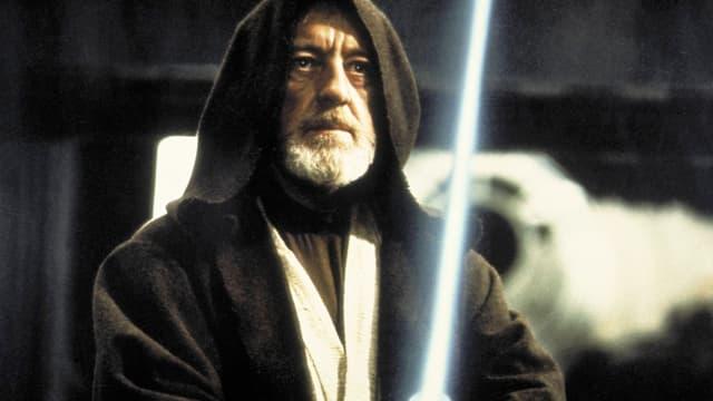 Ein Laserschwert in Star Wars.