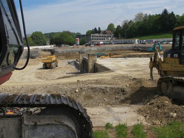 Baustelle für das Spital