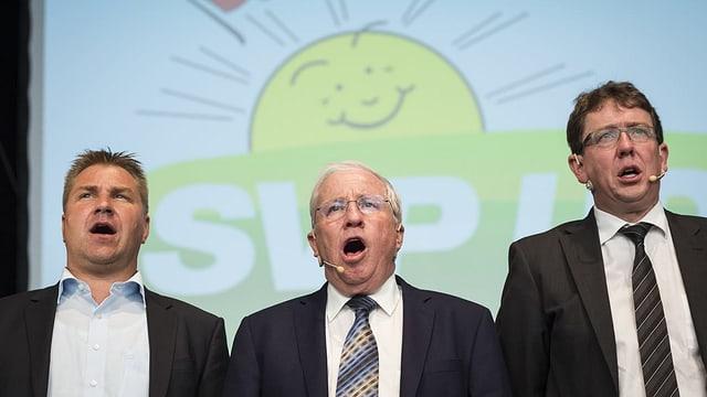 Toni Brunner, Christoph Blocher und Albert Rösti