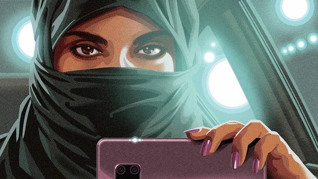 Ausschnitt des gemalten Posters von «Saudi Runaway»