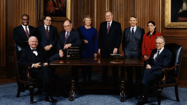 Gruppenbild des Obersten Gerichtshofs aus dem Jahr 1993 mit Ruth Bader Ginsburg.