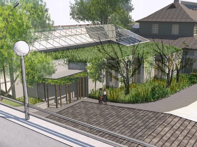 Eine Visualisierung des neuen Vogelhaus