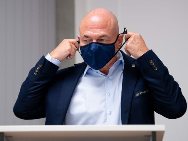 Vaucher mit Maske