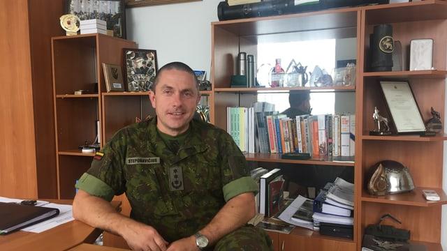Der litauische Oberstleutnant Mindaugas Steponavicius.