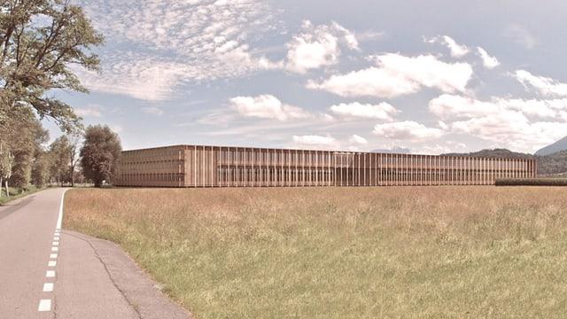 Bild des geplanten Neubaus der Landwirtschaftschule Salez