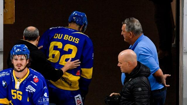 Félicien Du Bois aveva stuì bandunar blessà il glatsch la dumengia en la partida cunter Lugano.