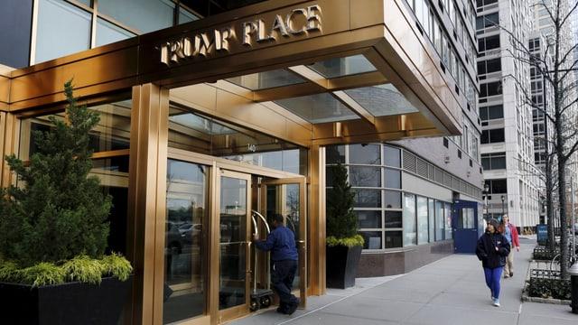 Eingang zu «Trump Place».