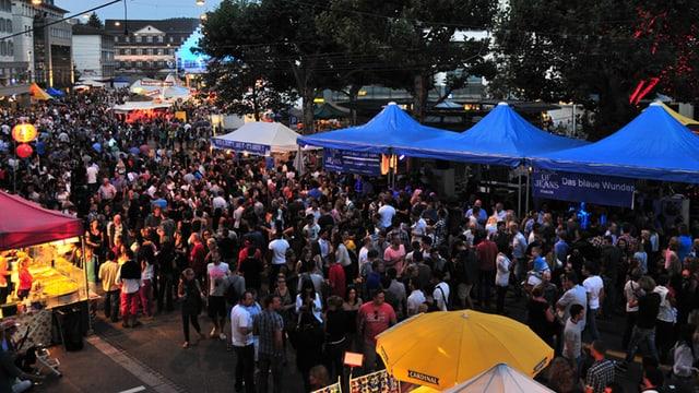 Menschenmenge am St. Gallerfest