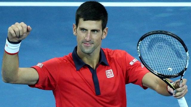 Überflieger Novak Djokovic.