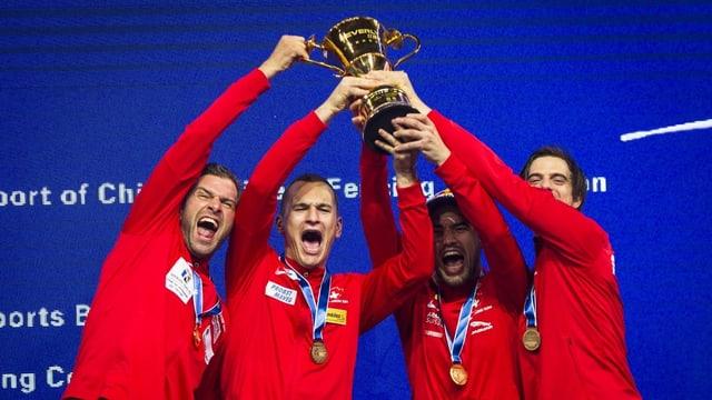 Die Schweizer Degenfechter wurden erstmals Team-Weltmeister.
