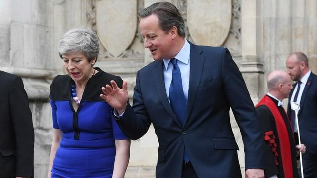 Theresa May neben David Cameron