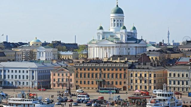 Blick auf lutherische Kathedrale in Helsinki