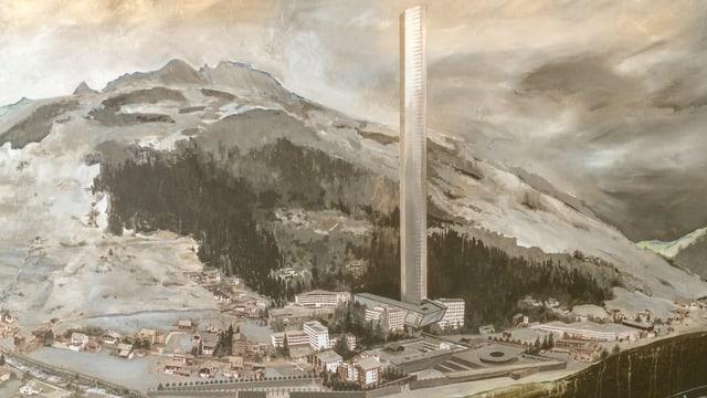 Design da la tur da 381 meters autezza, fatgs d'agl architect Thom Mayne.