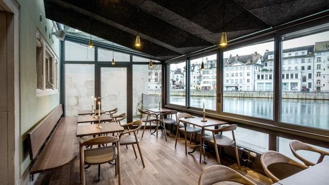 Ohne Gäste: Das Restaurant «MillFeuille» in Luzern.