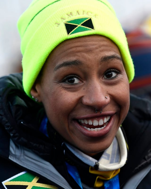 Sie ist die erste jamaikanische Bob-Pilotin, die an Olympischen Spielen teilnimmt: Jazmine Fenlator-Victorian.