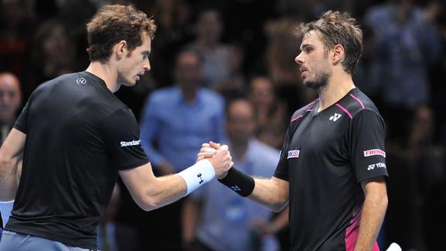 Andy Murray gratuliert Stan Wawrinka