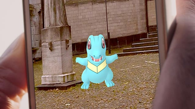 Ein Pokémon auf einem Bildschirm.