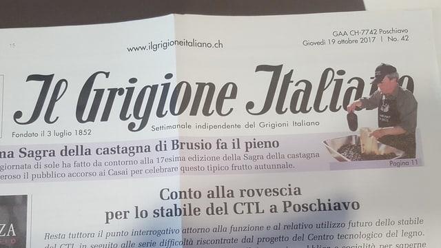Die Zeitung Grigione Italiano