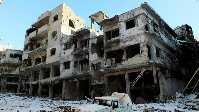 Zerstörung in der seit Monaten umkämpften Stadt Homs