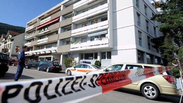 Polizei am Tatort in Grenchen.