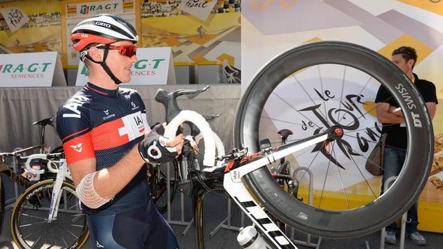 Il ciclist svizzer Mathias Frank.